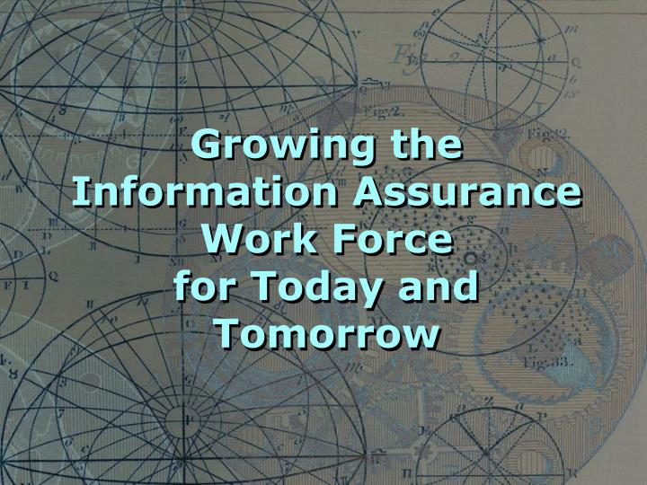 Growing the Information Assurance Work Force