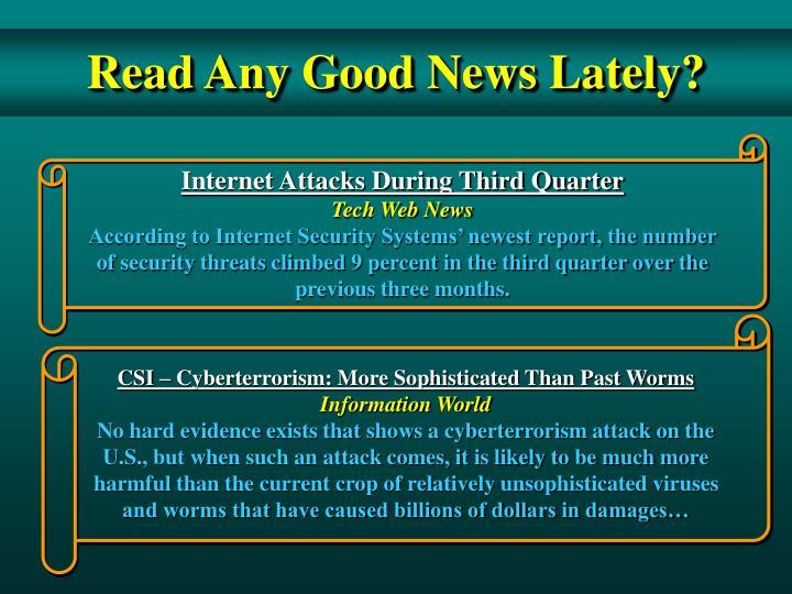 Internet Attacks During Third Quarter