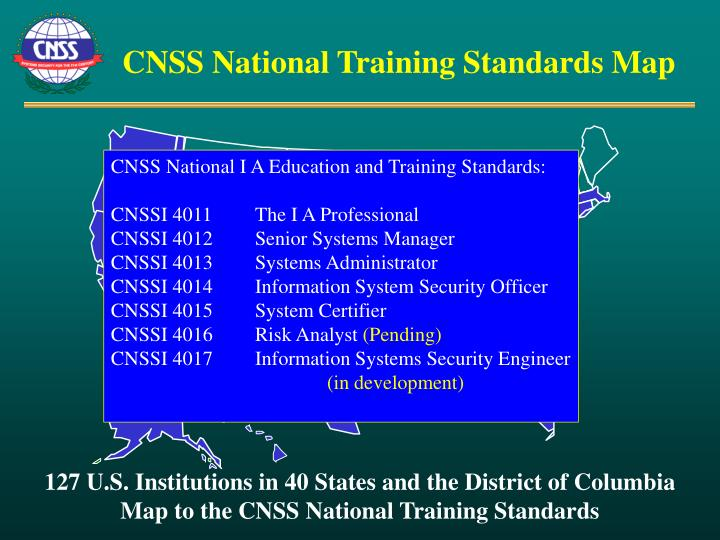 CNSS National Training Standards Map