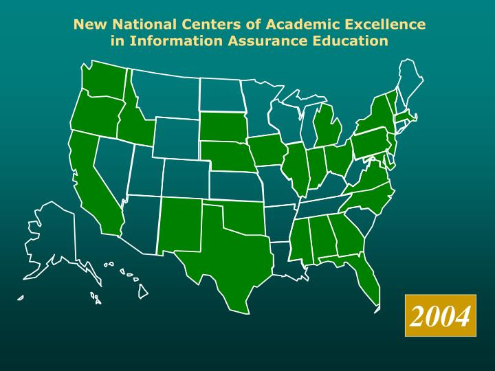 New National Centers of Academic Excellence