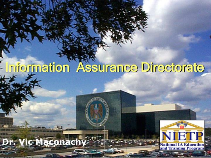 Information  Assurance Directorate