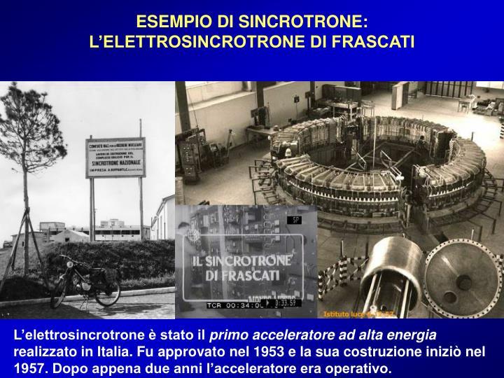 ESEMPIO DI SINCROTRONE: