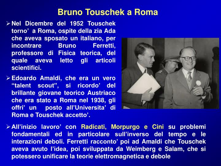 Bruno Touschek a Roma
