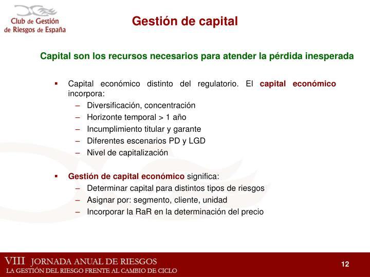 Gestión de capital