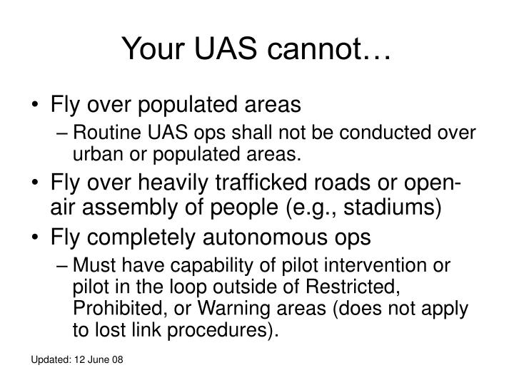 Your UAS cannot…