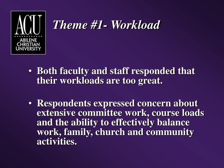 Theme #1- Workload