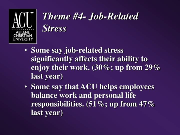 Theme #4- Job-Related Stress