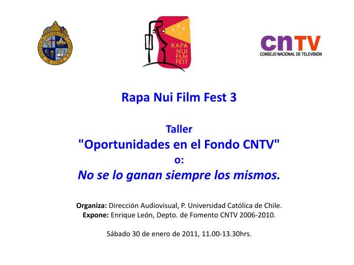 Rapa Nui Film Fest 3