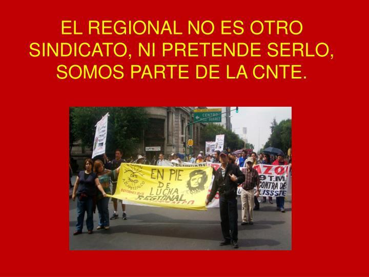EL REGIONAL NO ES OTRO SINDICATO, NI PRETENDE SERLO, SOMOS PARTE DE LA CNTE.