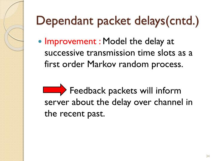 Dependant packet delays(