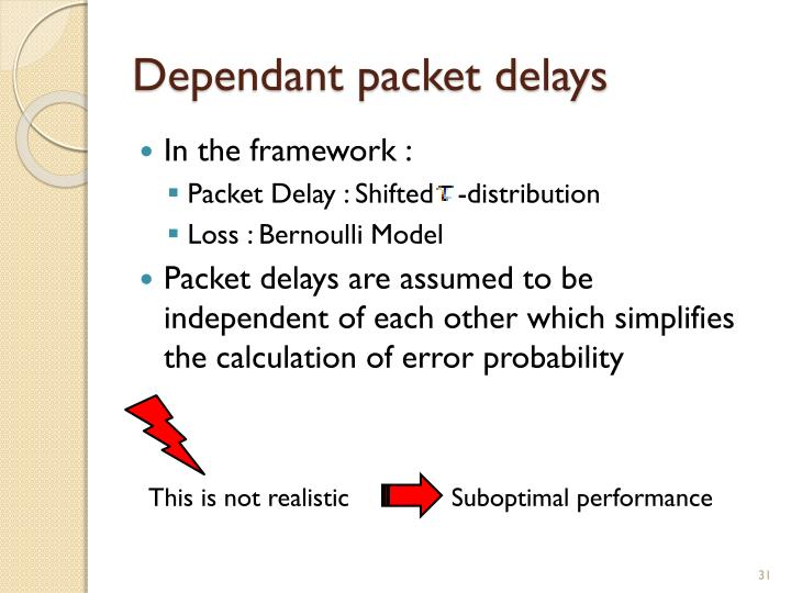 Dependant packet delays