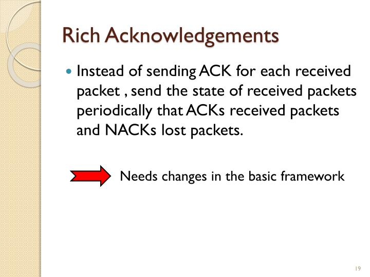 Rich Acknowledgements