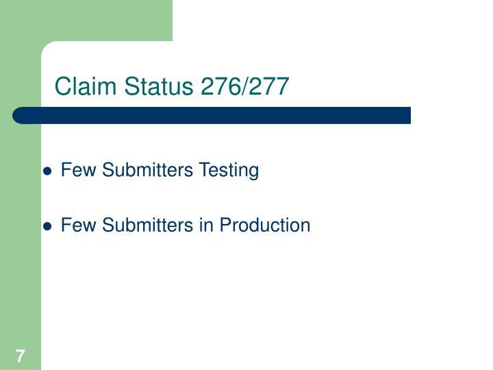 Claim Status 276/277