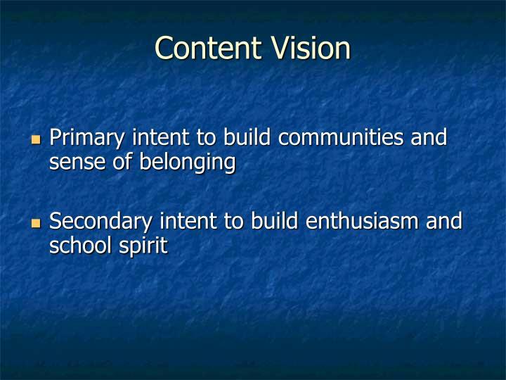 Content Vision