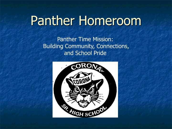 Panther Homeroom