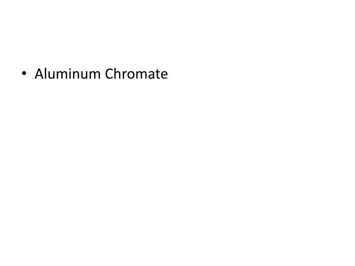 Aluminum Chromate