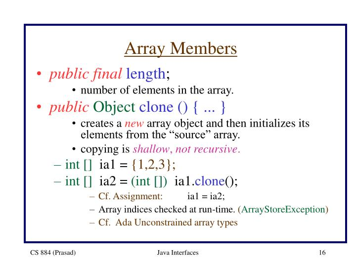 Array Members