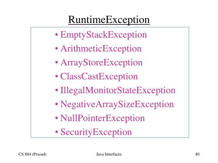 RuntimeException