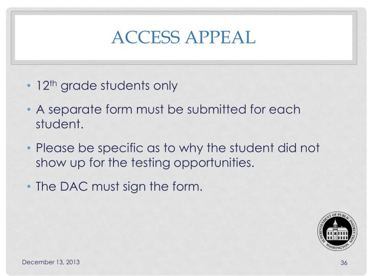 Access Appeal