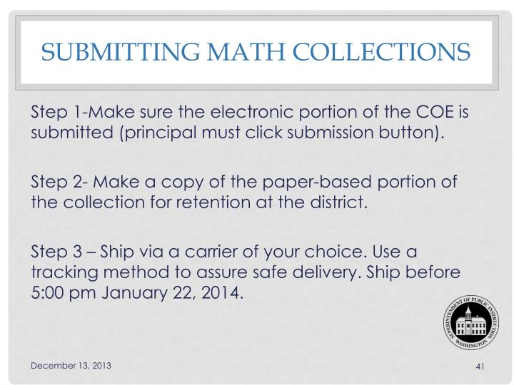 Submitting Math collections