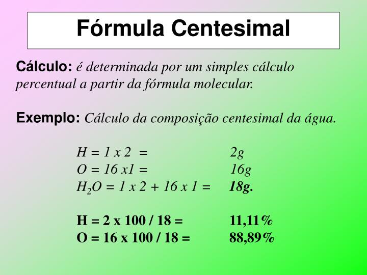 Fórmula Centesimal