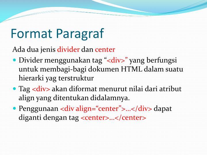 Format Paragraf