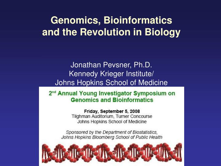 Genomics, Bioinformatics