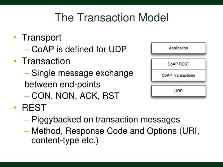 The Transaction Model