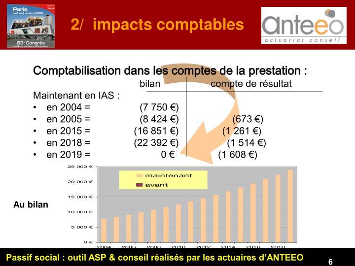 2/  impacts comptables