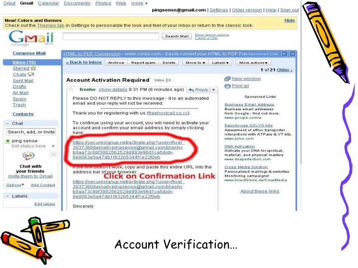 Account Verification…