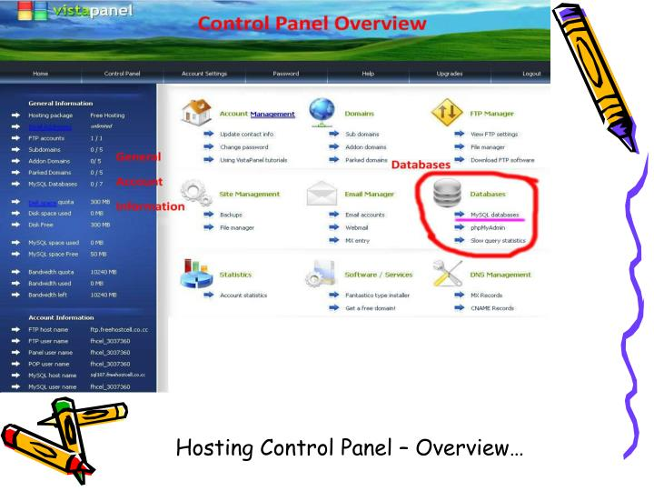 Hosting Control Panel – Overview…