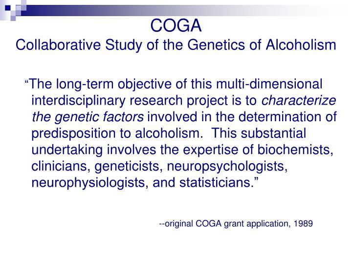 Collaborative Studies on Genetics of Alcoholism (COGA ...
