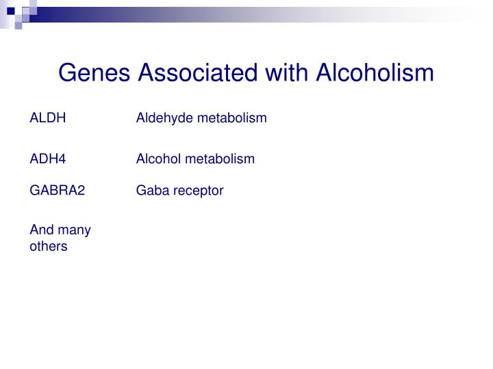 Genes Associated with Alcoholism