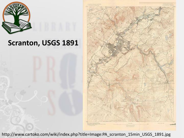 Scranton, USGS 1891