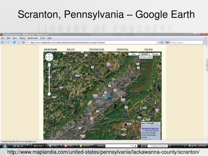 Scranton, Pennsylvania – Google Earth