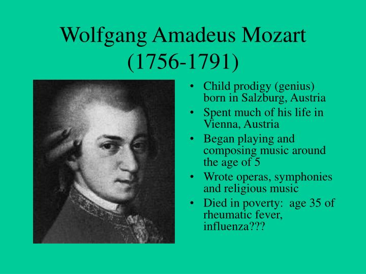 wolfgang amadeus mozart 1756 1791 essay Wolfgang mozart http://www wolfgang amadeus mozart lived between 1756 and 1791 he is one of ( 1) wolfgang amadeus mozart lived between 1756 and 1791.