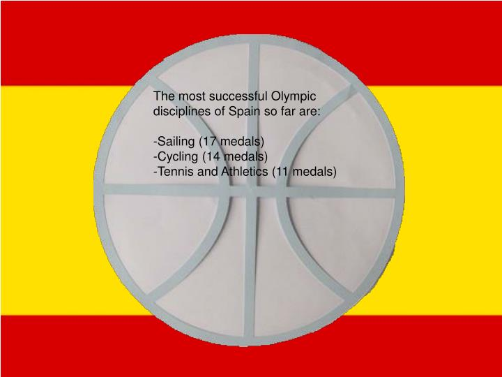 The most successful Olympic disciplines of Spain so far are: