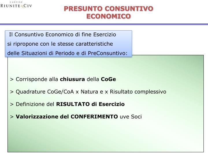 PRESUNTO CONSUNTIVO ECONOMICO