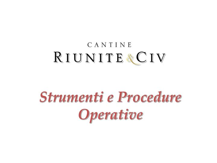 Strumenti e Procedure Operative