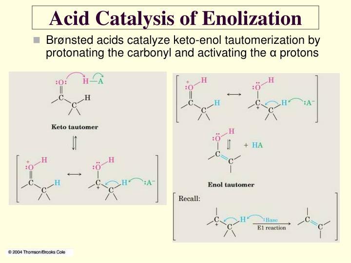 Acid Catalysis of Enolization