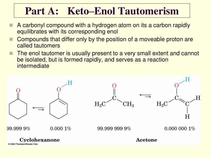 Part A:Keto–Enol Tautomerism
