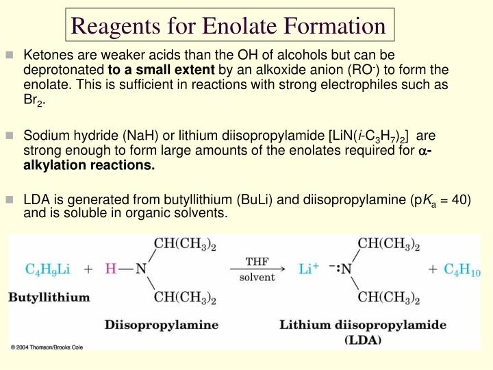 Reagents for Enolate Formation