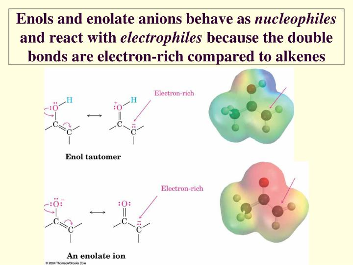 Enols and enolate anions behave as