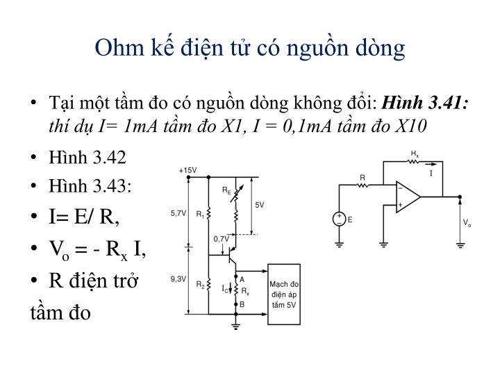 Ohm kế điện tử có nguồn dòng