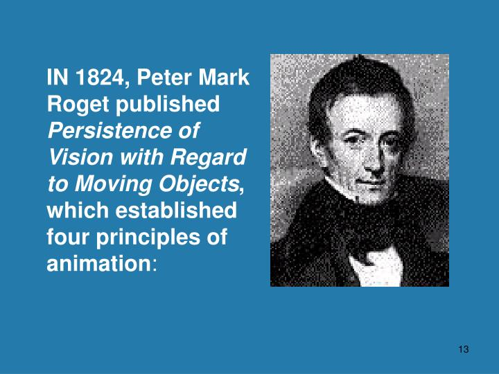 IN 1824, Peter Mark Roget published