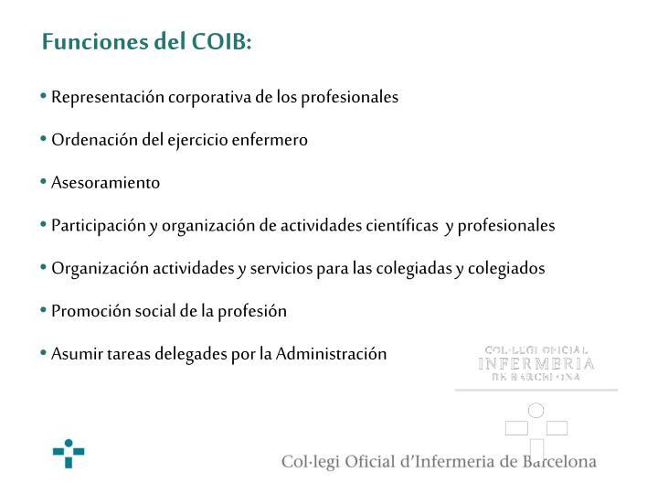 Funciones del COIB: