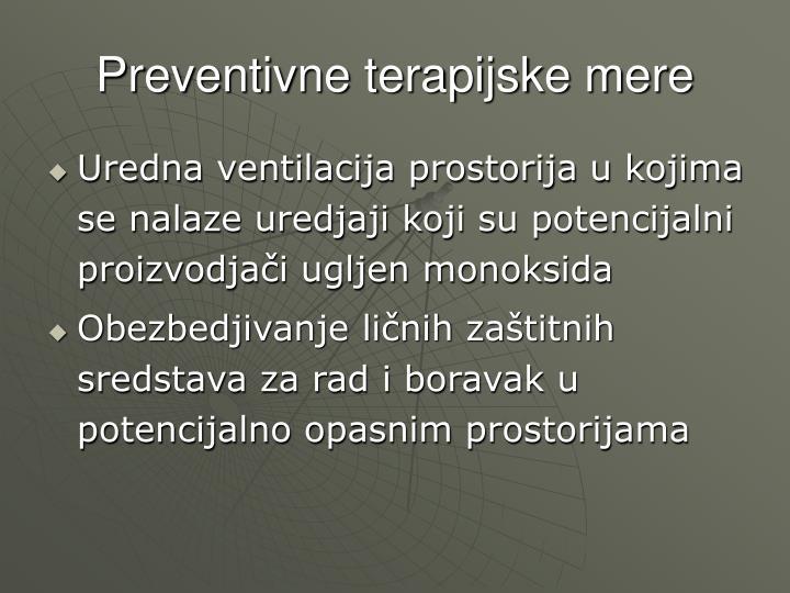 Preventivne terapijske mere