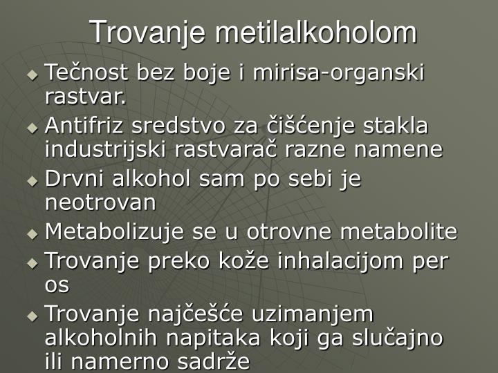 Trovanje metilalkoholom