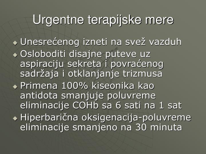 Urgentne terapijske mere