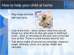 how to help your child at home